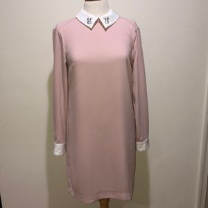 Pale Pink Dress With Bunny Collar So Small